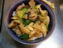 料理のための3分 エリンギとチンゲン菜と豚肉の炒め物