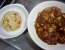 就活生の炒飯と麻婆豆腐