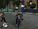 GTA SA 市民にパンチ>迫り来る市民>市民の怒りの矛先が警官へ>撲殺