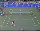 【テニス】サンプラスのダンクスマッシュ (Pete Sampras Flying)