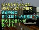初音ミクがちびまる子ちゃんのOPで武蔵野線の駅名を歌いました。