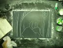 黒板とチョークでソウルコックリさん