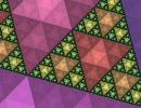 【ニコニコ動画】シェルピンスキーの三角形を拡大していく動画を解析してみた