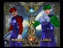 ソウルキャリバーⅢでマリオ vs ルイージ