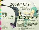 日刊VOCALOID系ランキング フロンティア 2009/10/2