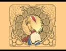 魔理沙は大変なものを盗んでいきましたをミュシャ風に描いてみた
