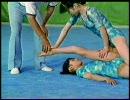 女子体操教室part.2 レオタードで大開脚