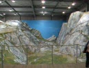 愛・地球博(愛知万博) スイス館のアルプス山脈のミニチュア