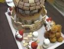 お菓子で城を築いてみた。