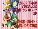 2009下半期VOCALOID新曲ランキングSP 複数・海外・AHSボカロ編