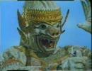 白猿ハヌマーン、仏頭泥棒に仏罰を下し、仏頭を元に戻す