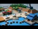 ポケモンHGSSにでてくるアサギシティを紙で建設してみた。