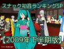スナック初音ランキングSP【2009年下半期版】