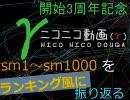 【ニコニコ動画】【γ開始3周年記念】ニコニコ動画sm1~sm1000をランキング風に振り返るを解析してみた