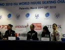 Ladies FS PRESS CONFERENCE WORLDS 2010 1/3