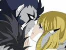 【手描き】黒本ペアでキスをしながら唾を