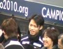 世界選手権2010 SP練習前 高橋 小塚 織田