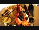 【1Rキッチン】魚介のパスタ海苔入り