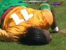 【サッカー】闘莉王が世界のドログバを飛びヒザ蹴りで破壊!【国恥】