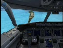 【FSX】素人の俺が旅客機を飛ばしてみる【エンジン停止編】