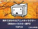 【2010年版】海外で好かれている男性アニメキャラクターTOP10