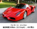 2010年版 世界一速い市販車トップ10