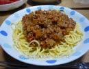 【けー】ミートスパゲティ作りました