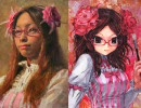 【三澤寛志×カバヂ】眼鏡娘を油絵で描いてみた【コラボ】