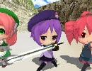 【MMD】UTAU三人娘対スライムベホマズン【UTAUクエスト3】