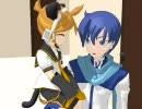 【MMD】ちびぬこレンとKAITOのなんでもな