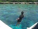 ハイスピード撮影で水中へ