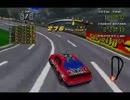 サターン版デイトナUSA C.E. の777 SpeedwayをHornetで走る(後方視点)