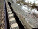 地滑りが発生して線路が
