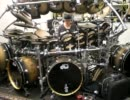 Terry Bozzio soloing in his office