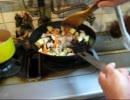 パンツマンの豚バラと野菜の味噌炒め。