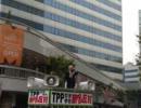 TPP交渉参加に反対する街頭演説会(2011年11月5日有楽町駅)