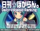 日刊VOCALOIDランキング 2011年12月7日 #1