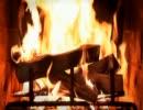 暖炉の火が燃えてるだけ