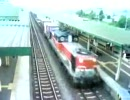 新得駅DD51貨物列車通過