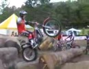 バイク トライアル世界選手権のウォーミングアップエリア