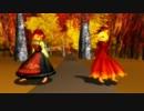 【東方MMD】 秋の神様にBad Apple!!踊って頂きました 【秋姉妹】