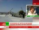 ロシアで旅客機が墜落 31人死亡