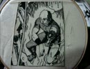 【コブラ】をまるまる1ページ【刺繍してみた】