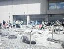 長野県諏訪湖にて 間欠泉