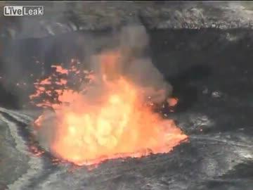 火山湖の底にゴミを捨てたらマグマが噴出した 【大惨事】