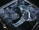 【手芸祭】ガラス箱に妖精さん彫ってみた