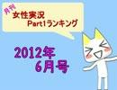 月刊女性実況プレイPart1ランキング【2012年6月】