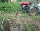 ほのぼの 耕運機の動力を利用した揚水ポンプ