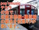 初音ミクが「チカラ」の曲で近鉄京都線・橿原線の駅名を歌いました。