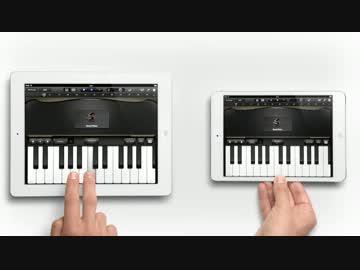 横向きサイズ比較(左:iPad 3、右:iPad mini)
